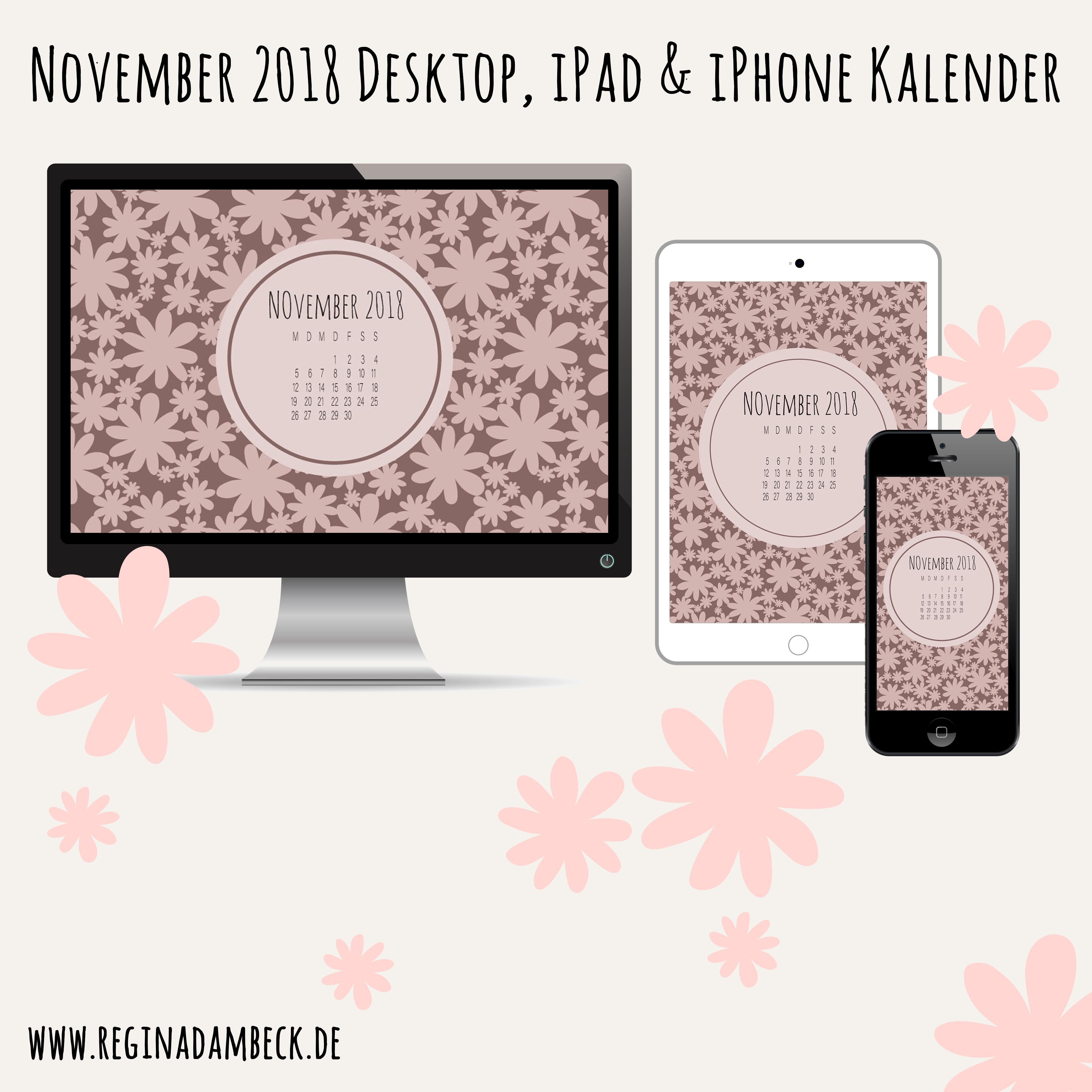 November 2018 Desktop Kalender Freebie
