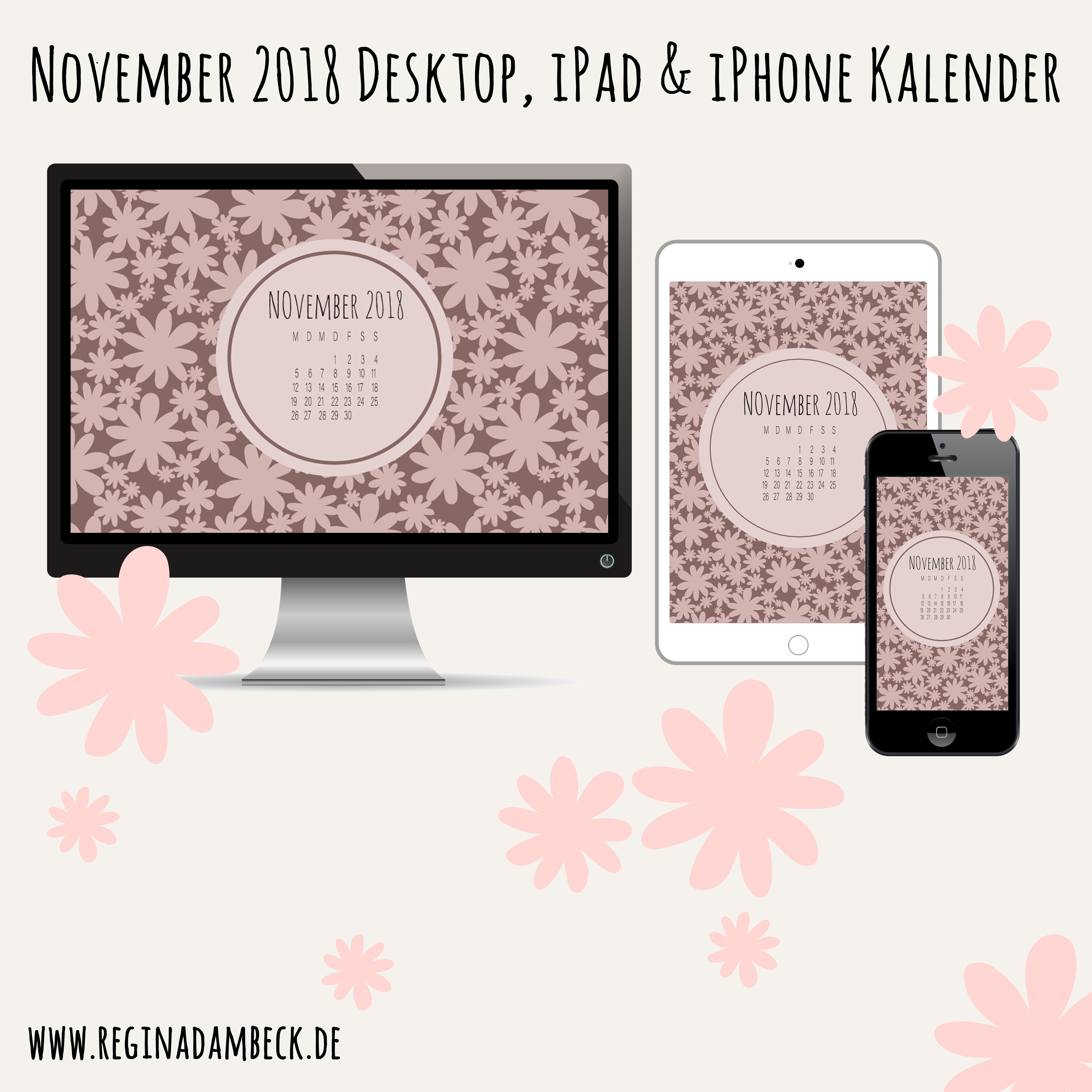 November 2018 Desktop Kalender Freebie