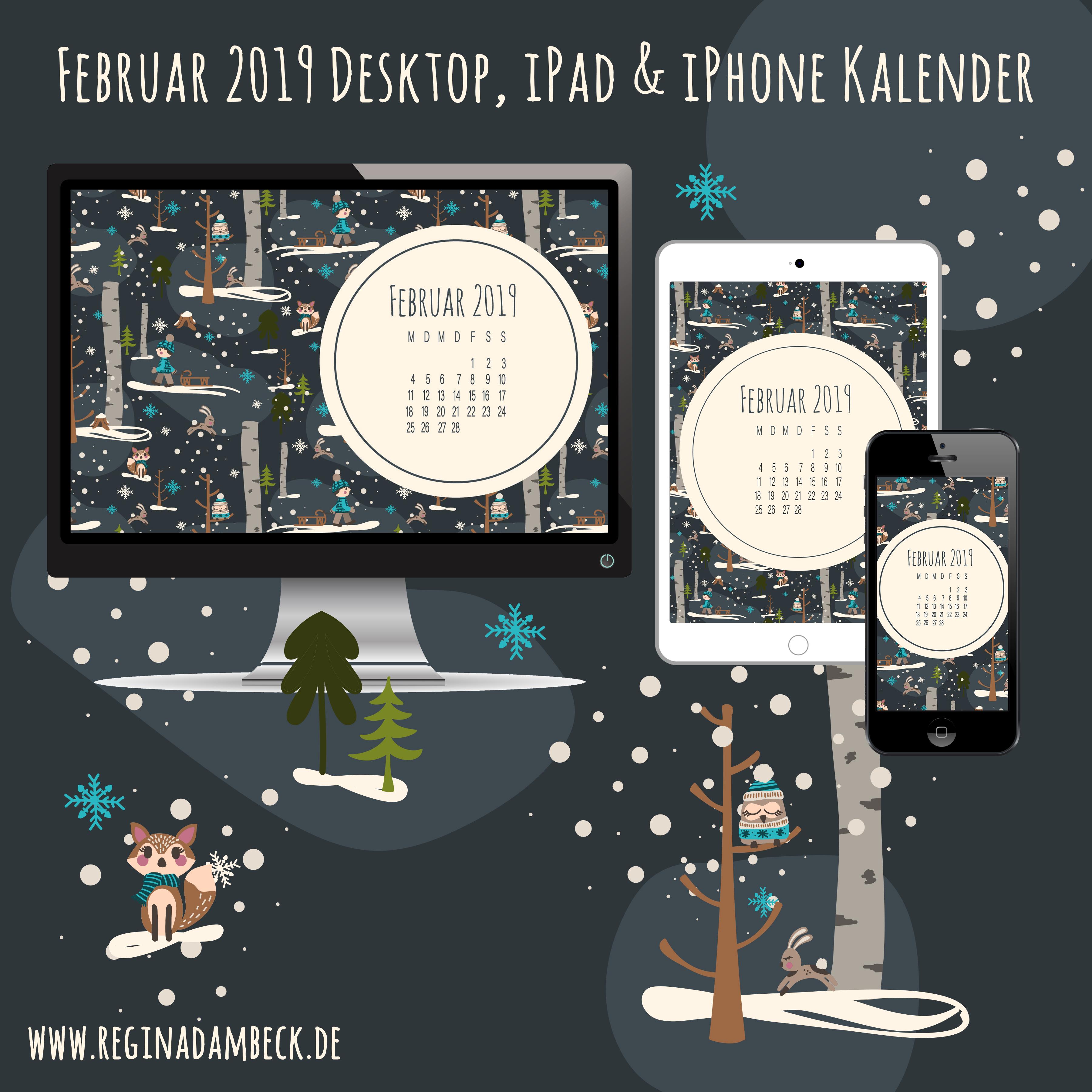 Kalenderblätter Februar 2019