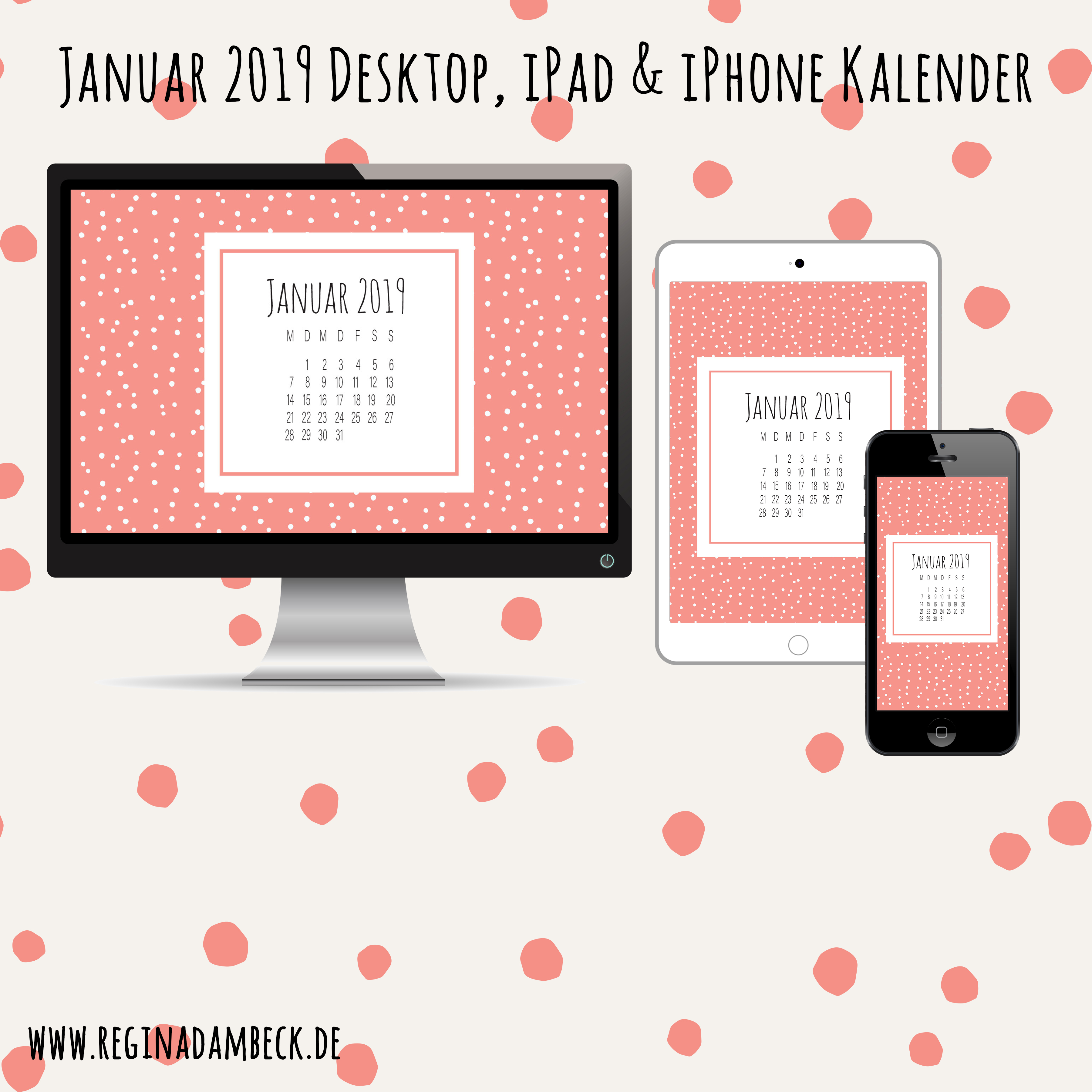 Desktop Kalenderblätter Januar 2019