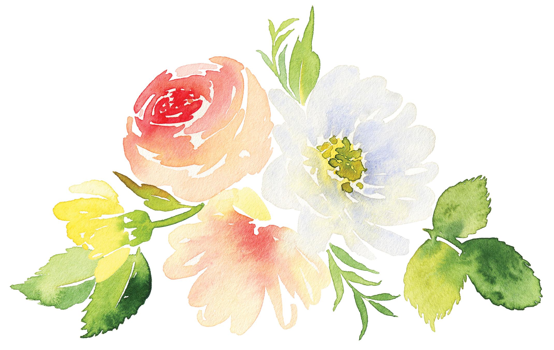 Aquarellblumen malen